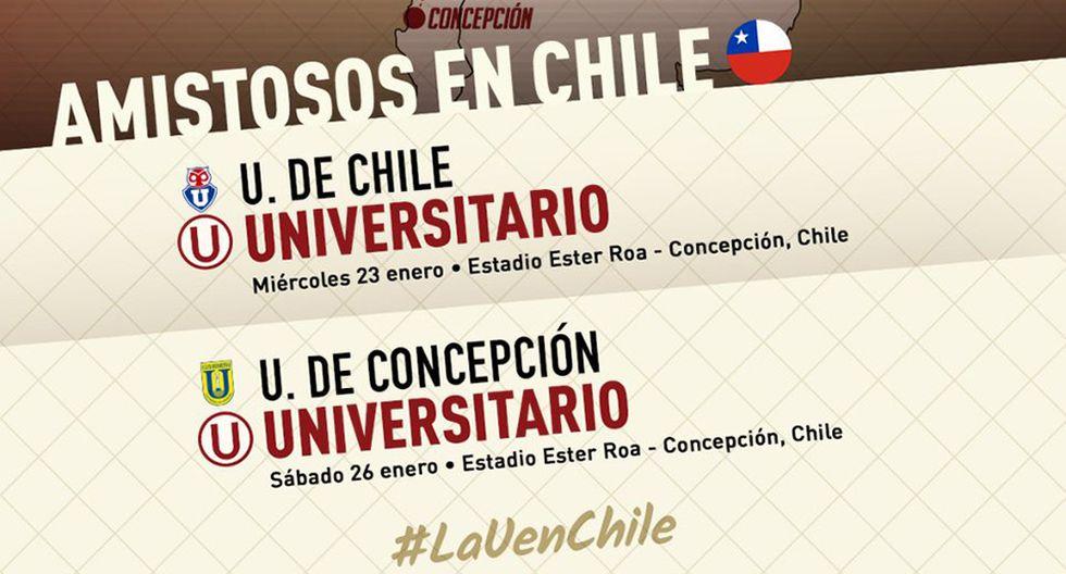 Universitario de Deportes jugará contra dos coperos de Chile. (Foto: Universitario de Deportes)