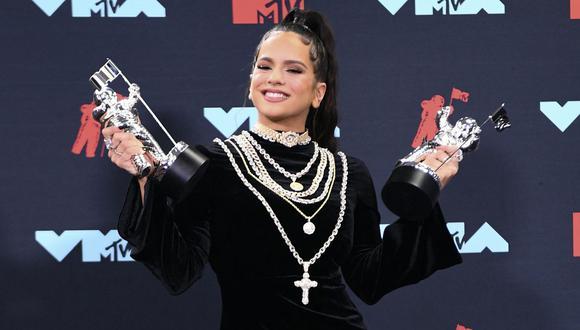Rosalía ha sido ganadora en los MTV VMAs. La ceremonia de este año será presencial y se llevará a cabo el 12 de setiembre. (Foto: AFP)