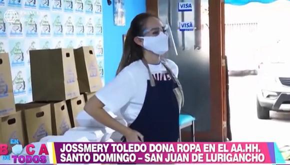 Jossmery Toledo llevó donaciones de ropa a Chosica. (Foto: En Boca de Todos)