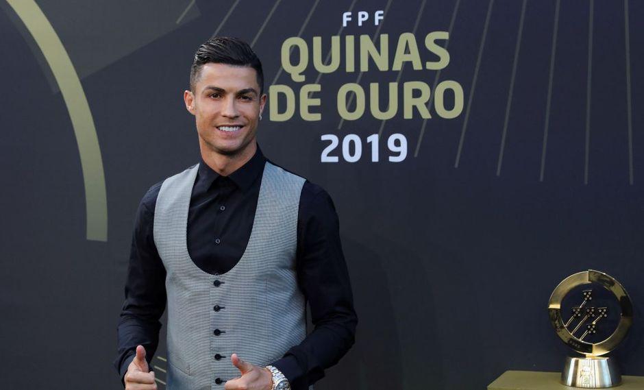 Cristiano Ronaldo es elegido el mejor jugador del año en la gala Quinas de Ouro 2019. (Foto: EFE)