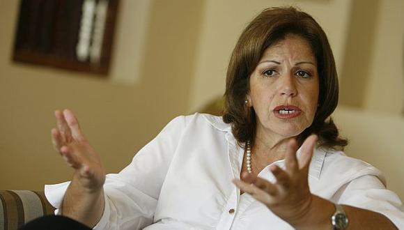 Lourdes Flores Nano niega que vaya a asumir premierato. (César Fajardo)