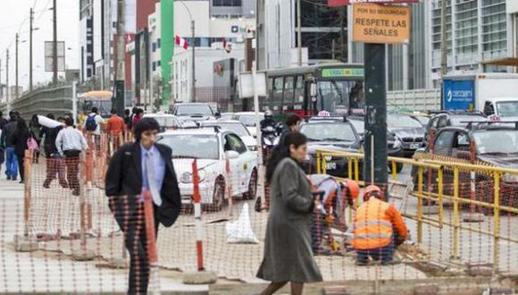 Los vehículos solo podrán circular por la avenida Javier Prado y Paseo de la República (El Comercio).