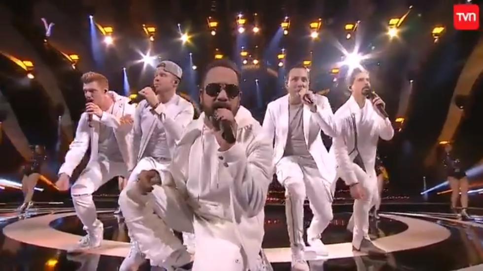 Viña del Mar: Backstreet Boys deleitan a los asistentes de la Quinta Vergara (Fotos: Captura de pantalla)