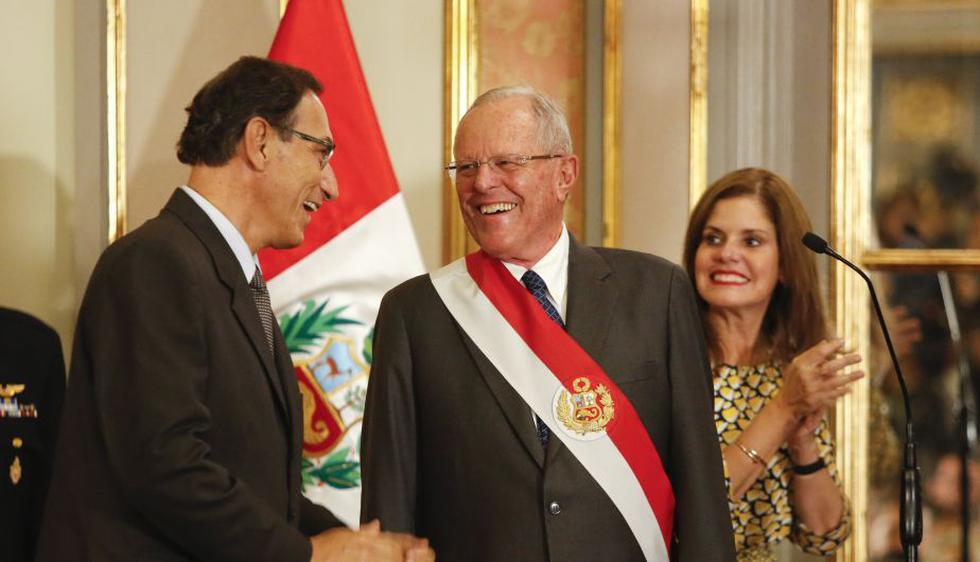 PPK junto a sus vicepresidentes Vizcarra y Aráoz. (USI)