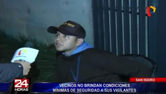 San Isidro: Vigilantes trabajan en condiciones deplorables (Panorama)