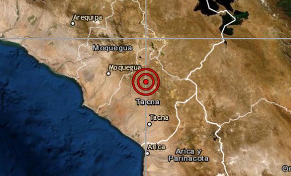 El sismo de mayor magnitud se reportó en Tacna. (Foto: IGP)