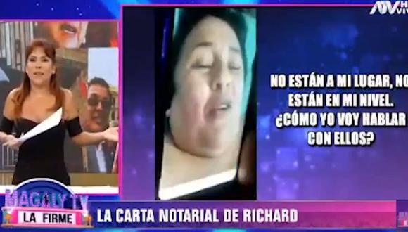 """'Richard Swing' amenaza a periodistas en nuevo video difundido por """"Al estilo Juliana"""". (Foto: Captura ATV)"""
