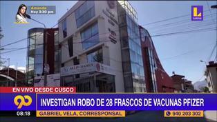 Investigan robo de 28 vacunas Pfizer en el Colegio de Ingenieros de Cuzco