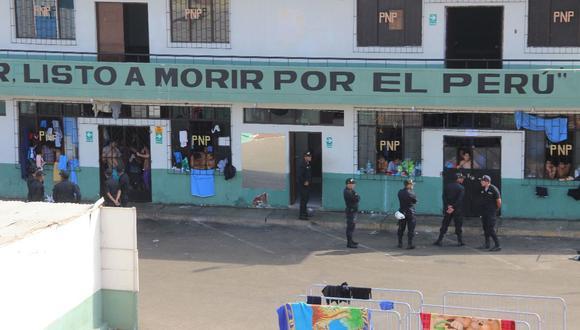 Los infractores de la correccional de Trujillo fueron reubicados en la antigua sede de la Escuela de Suboficiales de la Policía. (Alan Benites)