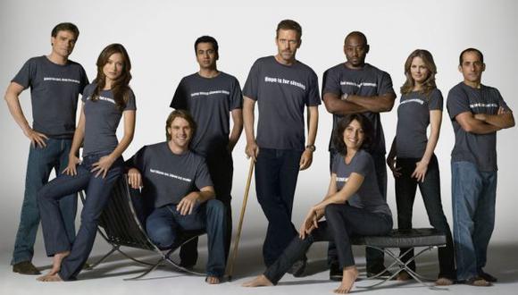 El equipo al doctor House en sus ocho temporadas. (Bibliovirtual)