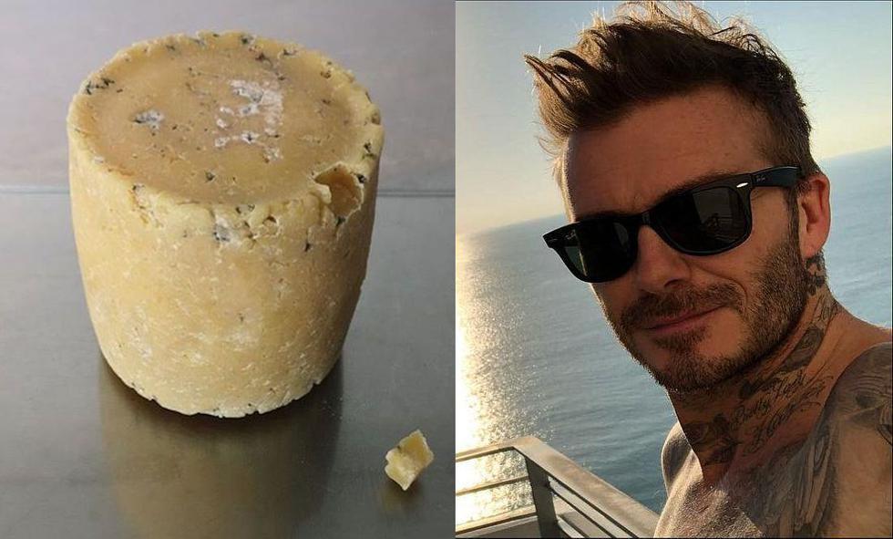 Museo en Londres expone un queso hecho con las bacterias de los pies de David Beckham. (Composición/Instagram)