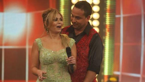 Gisela Valcárcel y Roberto Martínez en reality de baile. (Mario Zapata)