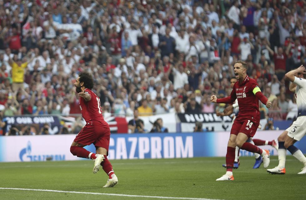 Liverpool se coronó campeón de la Champions tras ganar 2-0 al Tottenham. (Foto AP)