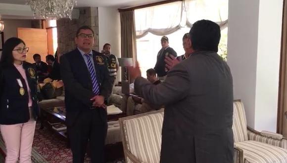 Erasmo Reyna protagonizó un tenso diálogo con el fiscal Henry Amenábar Almonte
