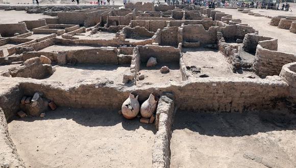 Descubrimiento arqueológico fue presentado el 10 de abril de 2021. (EFE / EPA / KHALED ELFIQI)