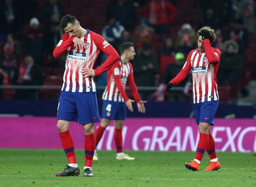 Atlético Madrid quedó eliminado de la Copa del Rey tras empatar 3-3 ante Girona. (Reuters)
