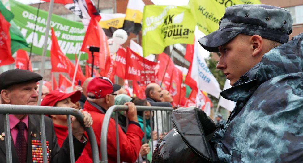 El pasado sábado, una manifestación autorizada congregó a unas 60.000 personas en la avenida Sajarov, algo nunca visto desde las protestas contra el regreso de Putin al Kremlin en 2012.(Foto: Reuters)