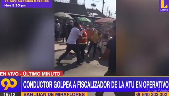 El ataque a fiscalizadores de la ATU ocurrió en los alrededores de la estación Línea 1 del Metro de Lima. (Latina)