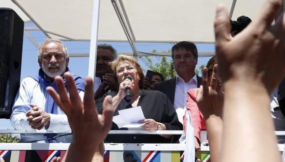 Bachelet cerró campaña en la zona de La Araucanía. (EFE)