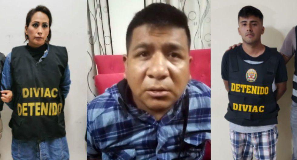 La Policía capturó a tres integrantes de la organización criminal, entre el cabecilla y una mujer.