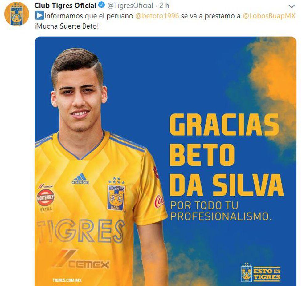 Así despidió Tigres a Beto da Silva. (Foto: Tigres UANL)
