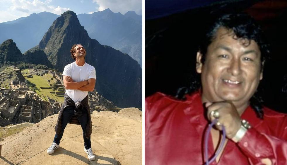 El actor colombiano confesó que le gustaría hacer una serie sobre el músico peruano. (Foto: @gregoriopernia1 / Archivo El Comercio)