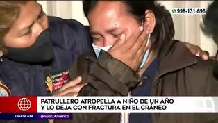 Chorrillos: patrullero atropella a niño y lo deja con fractura en el cráneo