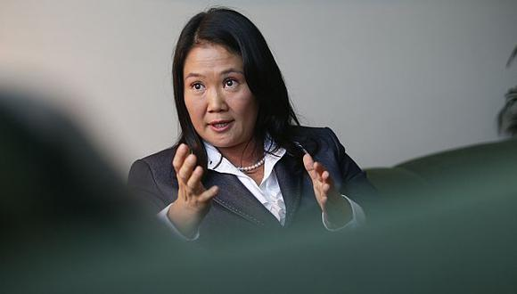 Keiko Fujimori exigió que se investigue aportes de mineros a Gana Perú. (César Fajardo)
