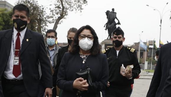 """Violeta Bermúdez: """"tres ministros participaran en mesa de dialogo con las autoridades de La Libertad y representantes agrarios"""" (Foto: César Campos / GEC)"""