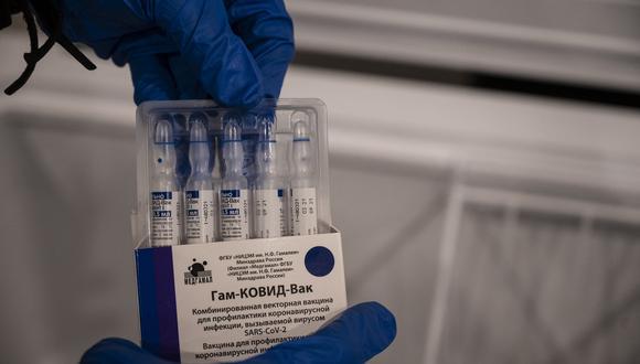 Dosis de la vacuna Sputnik V contra el coronavirus COVID-19 antes de ser aplicados durante una jornada de vacunación. (Foto de Yuri CORTEZ / AFP )