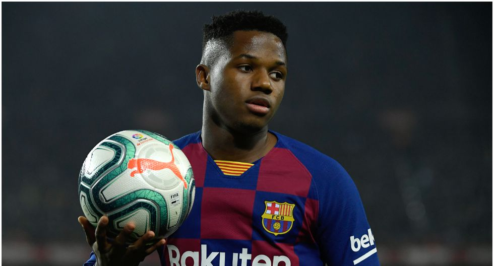 Edad 17: Ansu Fati juega en FC Barcelona y está valorizado en 43 millones de dólares (Foto AFP)
