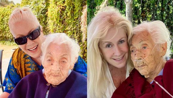 Eva Mange, abuela de Laura Zapata y de Thalía, se fracturó las dos piernas y tuvo que ser hospitalizada. (Foto: Instagram)