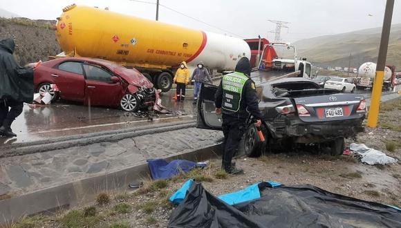 La Oroya: Cinco personas mueren en trágico choque en la Carretera Central (Foto: PNP)