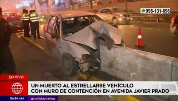 Al menos nueve personas murieron por accidentes de tránsito registrados en San Borja, Los Olivos y Lurín. (Captura: América Noticias)