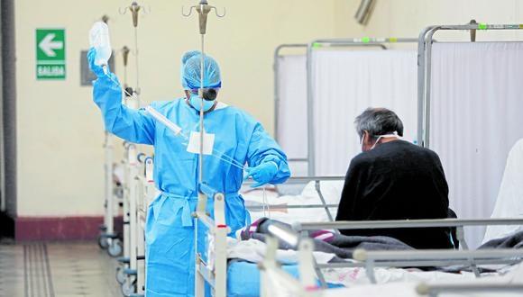 Unidad de Cuidados Intensivos (UCI) de Neumología del  Hospital Dos de Mayo atiende pacientes con COVID 19. (Foto: GEC)