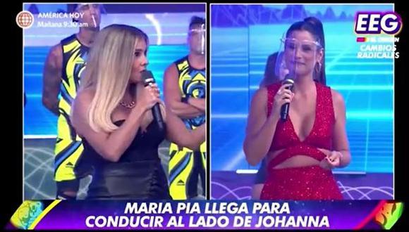 María Pía Copello regresó al reality para conducir junto a Johanna San Miguel. (Foto: captura de video)
