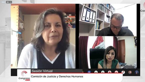 La Comisión de Justicia decidió citar a Zoraida Ávalos para el 9 de marzo. (Facebook: Congreso de la República)