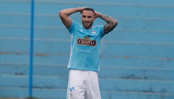 Emanuel Herrera fuera del amistoso contra Atlético Nacional. (Foto: Alonso Chero - GEC)
