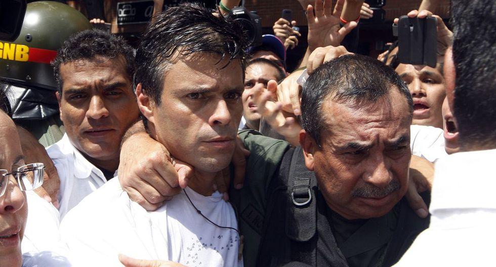 Inmerso en una agitada vida política en Venezuela, López participó de manera activa en las manifestaciones de la oposición. (Foto: AFP)