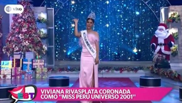 Maju Mantilla fue homenajeada al cumplirse 15 años de ganar el Miss Mundo. (Imagen: América TV)