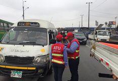 ATU interviene a más de 50 vehículos durante fiscalización en tramo de la Vía de Evitamiento