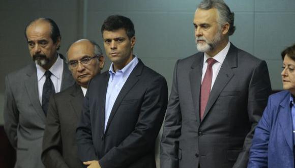 No le gusta. Maduro disgustado por visita de sus opositores. (David Vexelman)