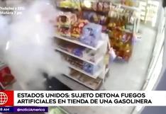 EE.UU: sujeto detona fuegos artificiales en tienda de una gasolinera