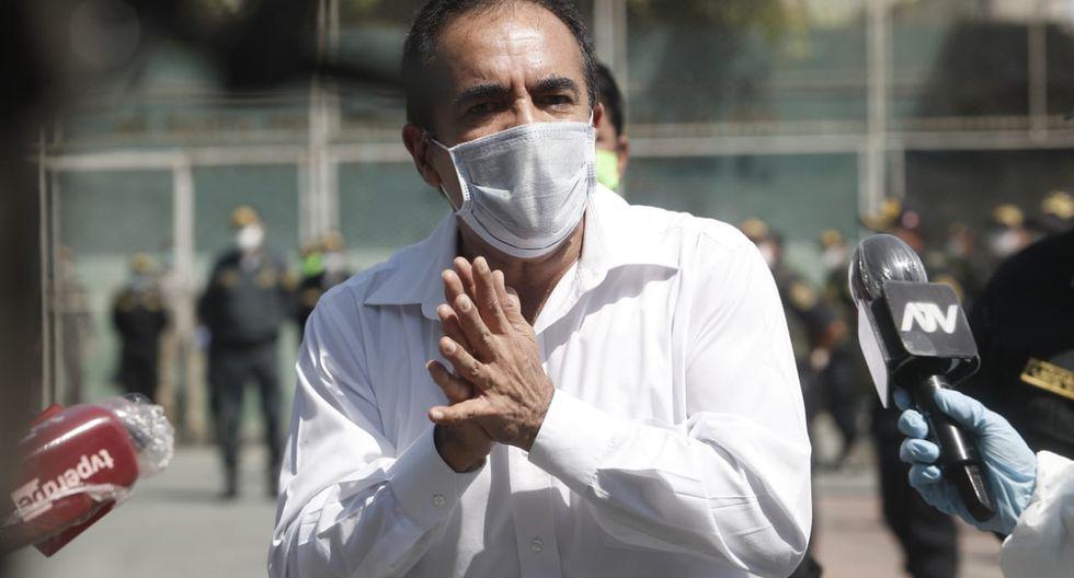 Ministro chamucado (César Campos/GEC).