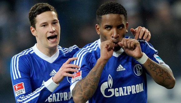 Jefferson Farfán marcó un golazo de tiro libre para el Schalke 04. (EFE)