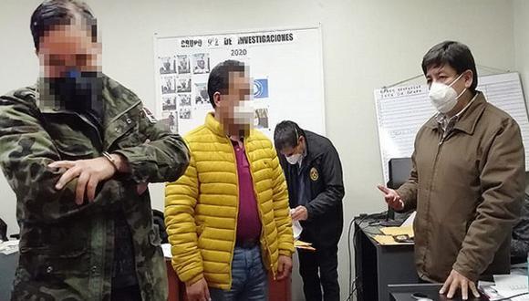 La fiscalía informó que el efectivo policial fue intervenido en flagrancia. (Foto: Ministerio Público)