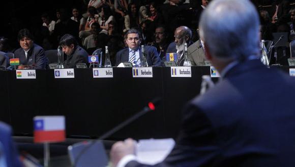 PICO A PICO. Morales y Piñera se enfrentaron por demanda marítima boliviana. Ninguna de las posiciones cedió un ápice. (Reuters)