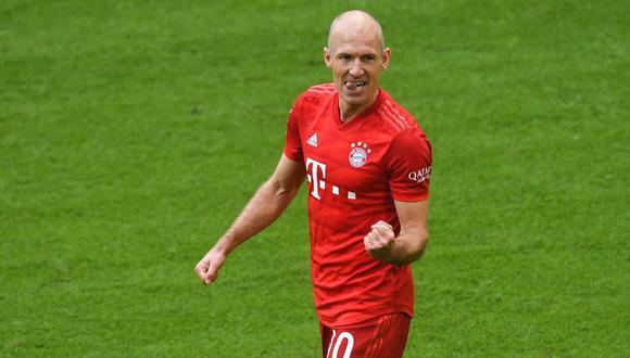 Arjen Robben dejará el Bayern Munich, club que defendió desde el 2009. (Foto: AFP)