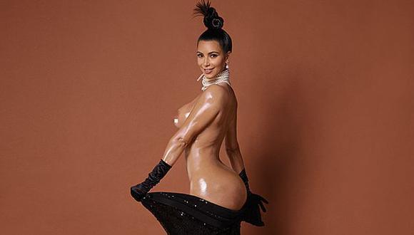 Kim Kardashian: Salieron a la luz más desnudos de la 'socialité'. (Cortesía revista Paper)