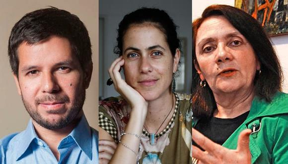 Katya Adaui, Renato Cisneros y Carmen McEvoy fueron excluidos en la delegación peruana que irá a la FIL Guadalajara. (Foto: @katyaadaui/@recisneros/@mcevoyperu).